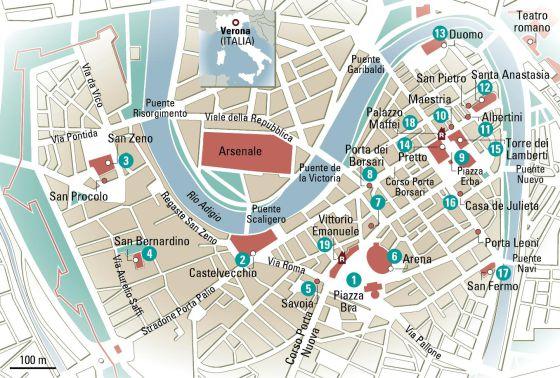 Resultado de imagen para mapa de verona ciudad