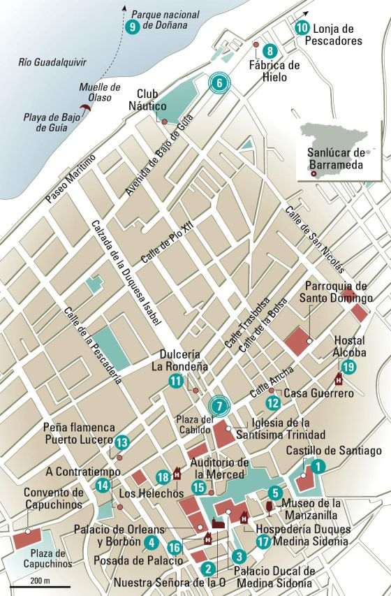 Sanlucar De Barrameda Mapa.24 Horas En Sanlucar El Mapa El Viajero El Pais