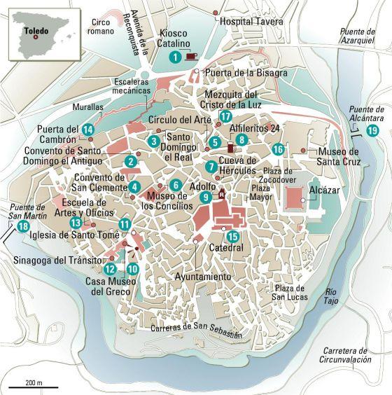 24 Horas En Toledo El Mapa El Viajero El Pais