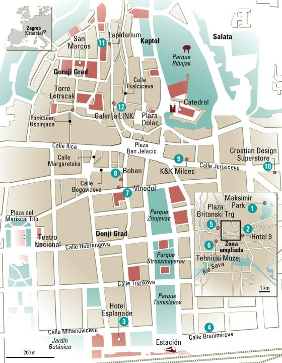 zagreb mapa 24 horas en Zagreb, el mapa | El Viajero | EL PAÍS zagreb mapa