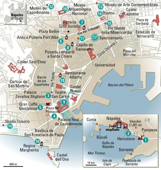 napoles mapa 24 horas en Nápoles, el mapa   El Viajero   EL PAÍS napoles mapa