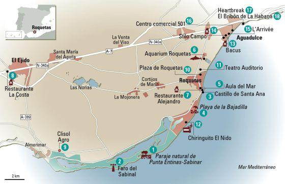 24 Horas En Roquetas De Mar El Mapa El Viajero El Pais