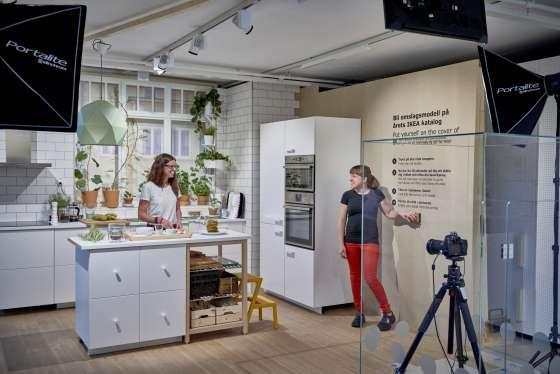 el rincn donde los visitantes del museo ikea pueden retratarse la foto al estilo