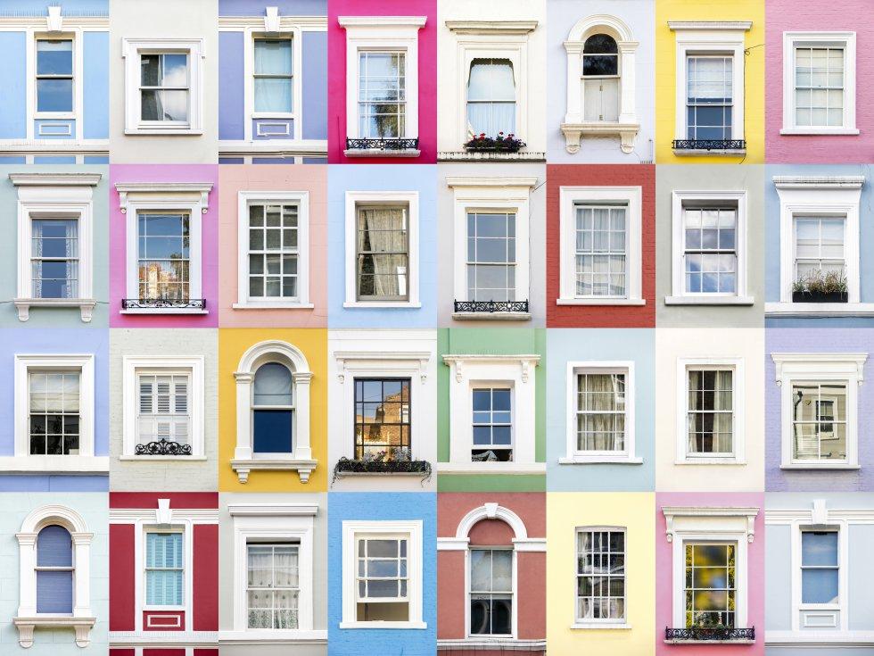 """""""O projeto não é só sobre imagens de janelas, é sobre a identidade arquitetônica que tem uma cidade, o que a torna única, algo que pode ser apreciado nelas"""", explica Gonçalves (1986, Santo Isidoro, Mafra). """"Eu gosto de fotografar janelas, mas isso poderia ser mostrado com outras coisas"""", assegura. De fato, tem outros dois projetos: começou a fotografar os característicos azulejos que cobrem as paredes de muitos edifícios portugueses e as portas de países como Portugal, Espanha, Romênia, Bélgica e Reino Unido estão imortalizadas em sua série Doors of the World (Portas do mundo). Na imagem, janelas nos coloridos edifícios do bairro londrino de Notting Hill."""