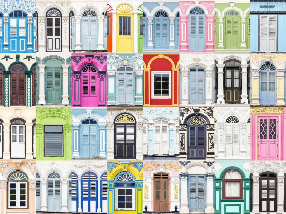 Uma janela solitária pode passar despercebida, mas, ao fechar o plano e observar as composições finais, é possível entender como elas têm um papel muito importante na estética geral de um lugar. As janelas não estão feitas apenas para abrir-se e fechar-se. Na imagem, a composição das janelas da ilha tailandesa de Phuket.