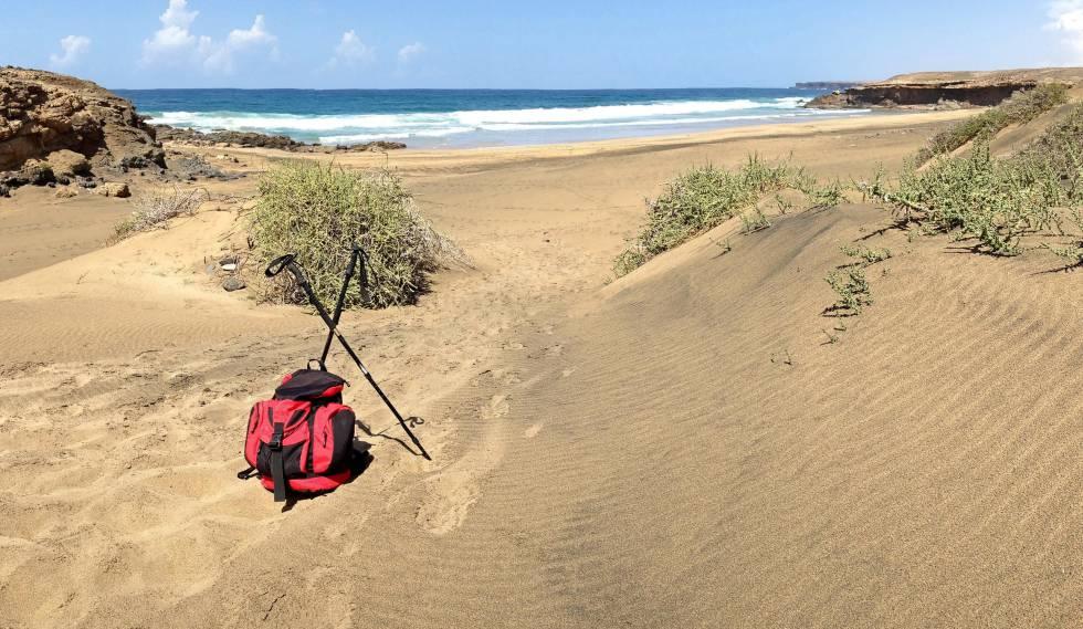 Playa de Jarugo, accesible desde Tindaya, en la costa occidental de Fuerteventura.