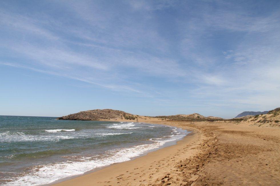 El parque regional de Calblanque, Monte de las Cenizas y Peña del Águila constituye, justo detrás del Mar Menor, uno de los ecosistemas más portentosos de la ribera mediterránea. No extraña por tanto que mañana sábado (22 de junio) entren en vigor las restricciones de acceso (murcianatural.carm.es). El primer playón, junto al aparcamiento de El Atochar, recibe el nombre de playa Larga por sus tres kilómetros de arena fina color pajizo. En el sector oeste, de acceso a pie (salvo para los autobuses lanzadera), Negrete es una maravillosa playa de tradición naturista que ostenta las dunas de mayor relieve. Este litoral es genéricamente peligroso por sus corrientes (no llevar flotadores).