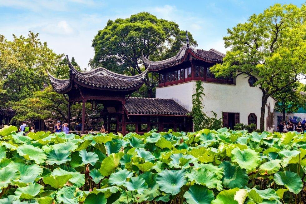 El Jardín del Maestro de las Redes, o del Pescador, considerado uno de los mejores de China, es el más pequeño de los jardines residenciales de la ciudad de Suzhou, declarados patrimonio mundial. Fue creado durante la dinastía Song, en el siglo XII, y profundamente rediseñado y rebautizado con su actual nombre en el XVIII por un funcionario de la dinastía Qing. Combina arte, naturaleza y arquitectura en un conjunto armónico que fue utilizado como modelo para el Ming Hall Garden (o Astor Court) del Museo Metropolitano de Arte de Nueva York; una miniatura suya fue exhibida en el Centro Pompidou de París en 1982.