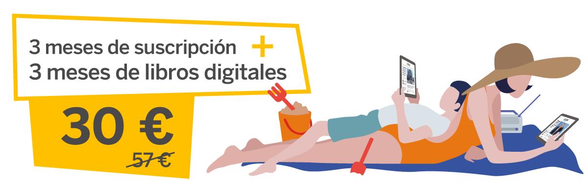 3 meses de suscripción + 3 meses de libros digitales 30€