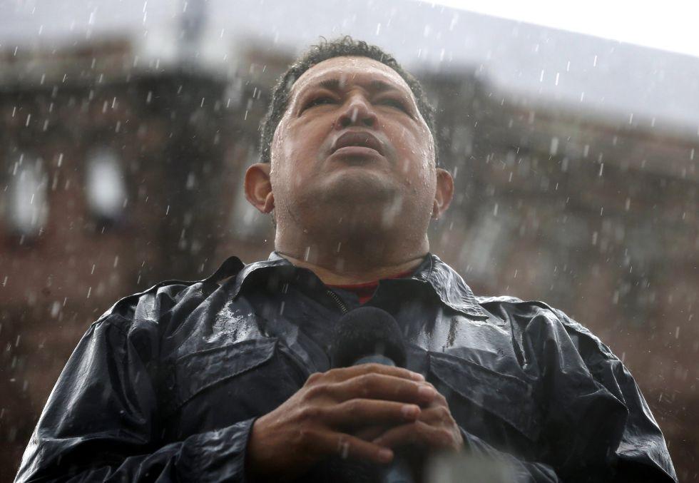 El presidente venezolano Hugo Chávez, durante un mitin celebrado el 4 de octubre de 2012.