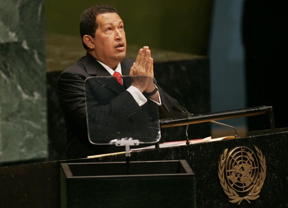 El presidente venezolano en la Asamblea General de las Naciones Unidas en septiembre de 2006.