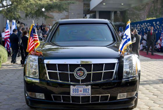 La limusina de Obama inutilizada en Israel por un problema
