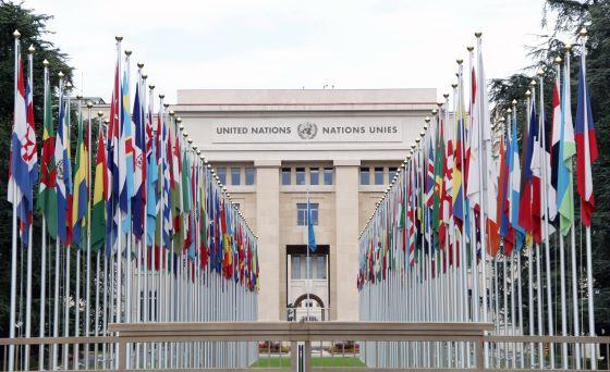 Fachada de la entrada a la ONU en Ginebra (Suiza) 274d173c6c895