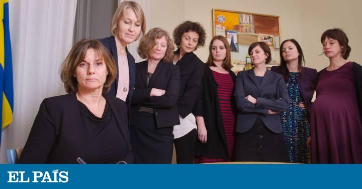 El Gobierno sueco 'responde' a Trump con una foto de mujeres del gabinete