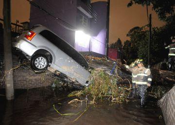 Las lluvias colapsan otra vez a la Ciudad de México