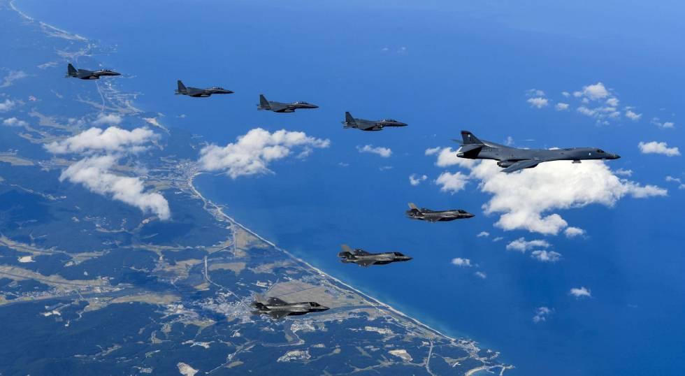Bombarderos de EE UU rozan el territorio norcoreano