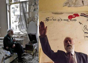 El melómano de la foto viral de la guerra siria esconde un fascista
