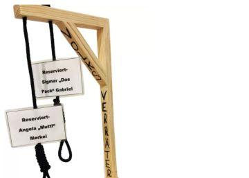 Alemania autoriza la venta de mini horcas para ?ajusticiar? simbólicamente a Merkel