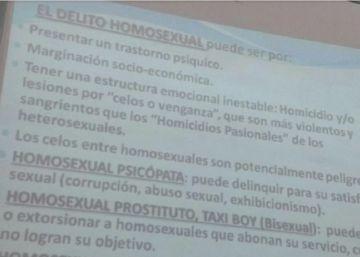 Una profesora argentina da una clase sobre ?delito homosexual?