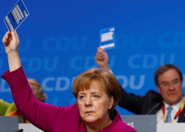 La CDU de Merkel aprueba por amplia mayoría la gran coalición con los socialdemócratas