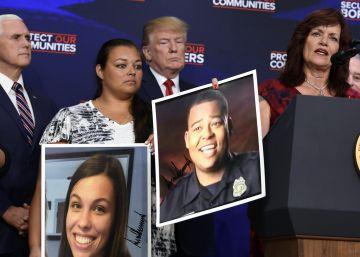 Trump asocia inmigración y crímenes en un acto con familiares de víctimas