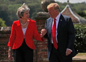 """Theresa May: """"Donald Trump me dijo que debería demandar a la UE"""""""