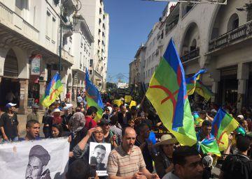 Miles de personas marchan en Rabat por la libertad de los presos del Rif
