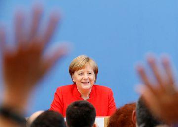 Merkel recalca que ya ?no es posible confiar en el superpoder de EE UU?