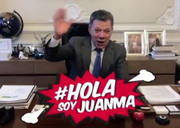 El presidente de Colombia, ?youtuber? por un día