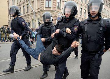 Las protestas centran la jornada electoral en Rusia