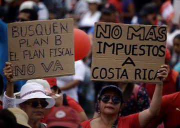 Crece la tensión en Costa Rica por una huelga contra el plan fiscal del Gobierno
