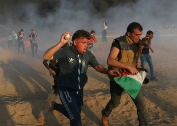 Siete palestinos muertos por disparos del Ejército israelí en una protesta en la frontera de Gaza