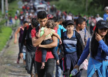 Trump carga contra otra caravana de migrantes centroamericanos con destino a Estados Unidos