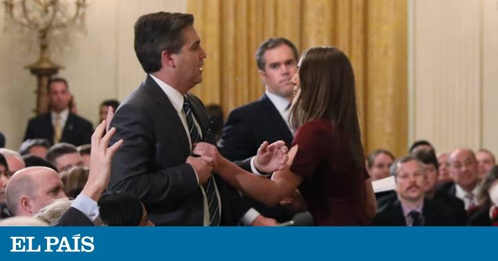 wholesale dealer a2d31 56a1c La Casa Blanca difunde un vídeo alterado de la discusión del periodista de  la CNN con Trump   Estados Unidos   EL PAÍS