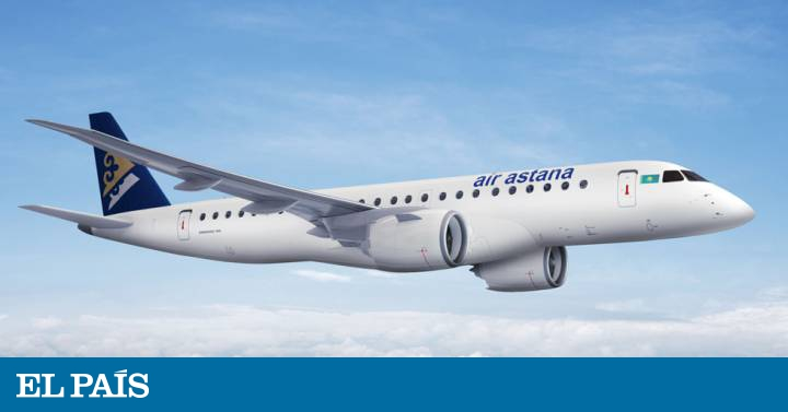 """newest 20f5c d4f9a El aeropuerto de Lisboa al avión de Air Astana  """"¿Quiere aterrizar en el  mar o en el río """"   Internacional   EL PAÍS"""