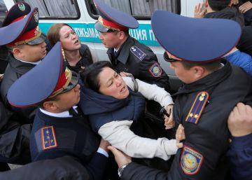 Las manifestaciones contra el Gobierno de Kazajistán derivan en decenas de detenciones