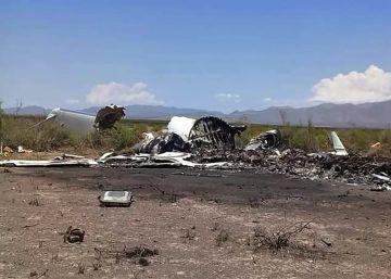 Trece muertos al estrellarse un avión privado en el norte de México