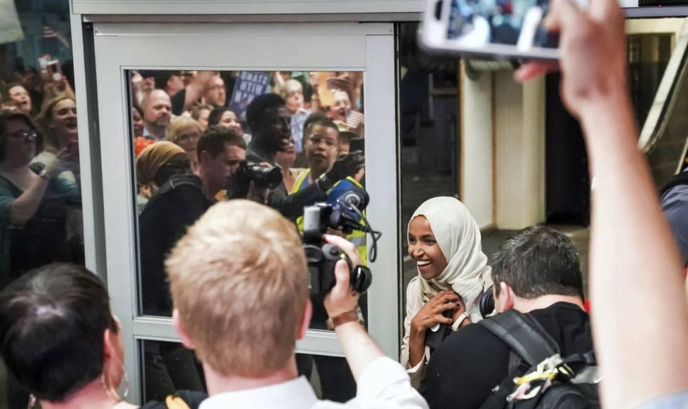 La congresista musulmana atacada por Trump, recibida en su Estado: ?¡Bienvenida a casa!?