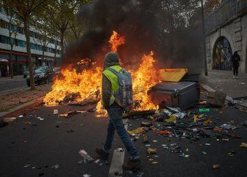 Pocos manifestantes y altercados violentos en el primer aniversario de los ?chalecos amarillos?