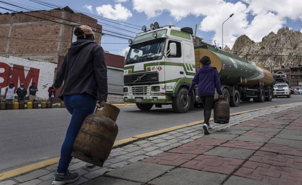 Escasez y violencia en la Bolivia de los bloqueos