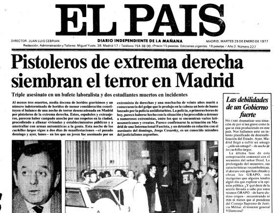 La matanza de los abogados de Atocha