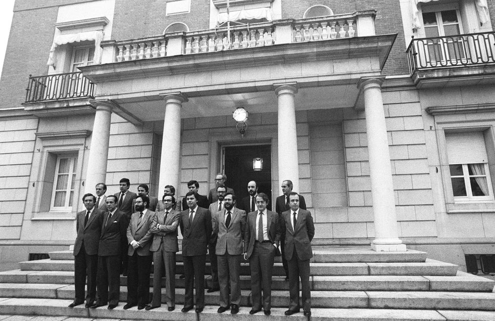 Fotos el primer gobierno socialista espa a el pa s for Gobierno de espana ministerio del interior