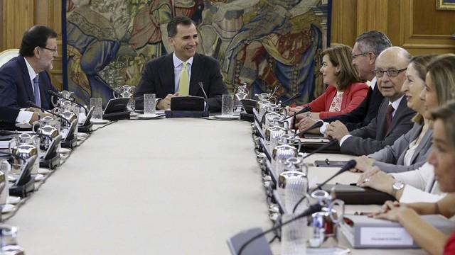 Felipe vi preside por primera vez el consejo de ministros for Ministros de espana