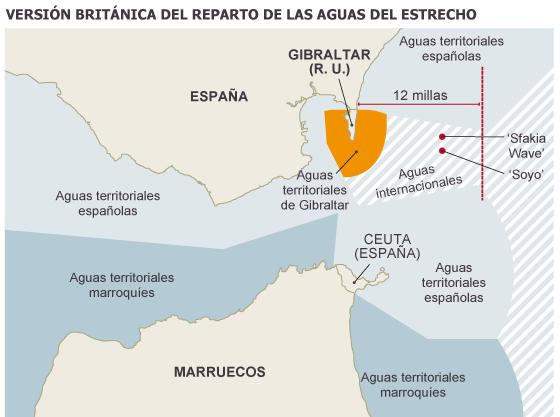 Aguas Territoriales Españolas Mapa.Londres Amplia El Contencioso Sobre Las Aguas Del Estrecho