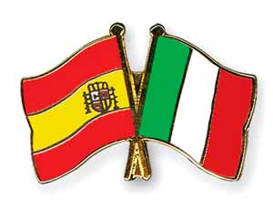 Resultado de imagen de bandera italiana Y ESPAÃ'OLA