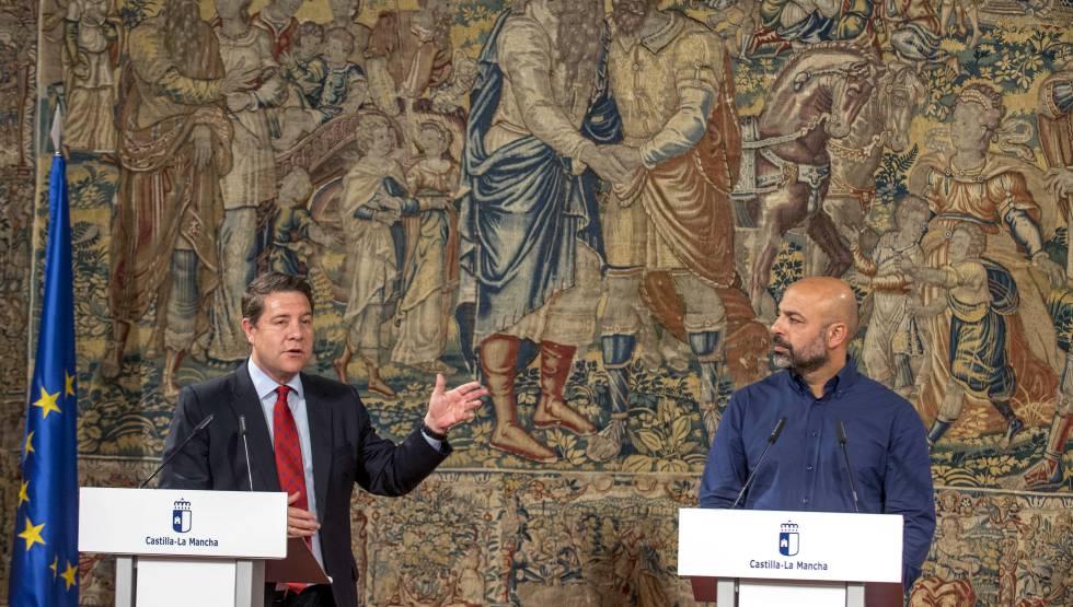 PSOE y Podemos forman en Castilla-La Mancha su primer Gobierno conjunto