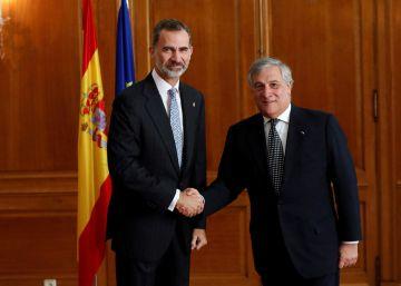 Tajani: ?No es responsabilidad de Europa intentar mediaciones dentro de España respecto a Cataluña?