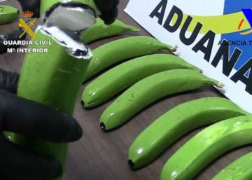 Seis toneladas de cocaína entre bananas colombianas