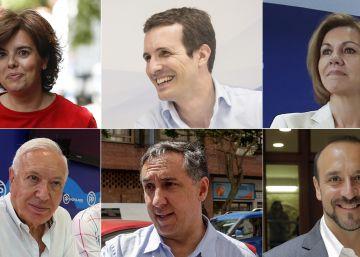 ¿Quiénes son y qué piensan los seis candidatos a liderar el PP?