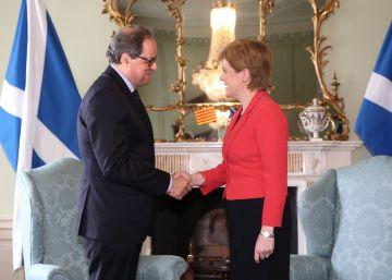 Torra y la líder de Escocia defienden un referéndum pactado en Cataluña